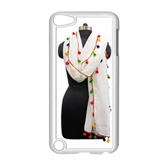 Indiahandycrfats Women Fashion White Dupatta With Multicolour Pompom All Four Sides For Girls/women Apple Ipod Touch 5 Case (white) by Indianhandycrafts