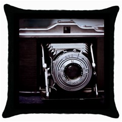 Vintage Camera Throw Pillow Case (black) by snowwhitegirl