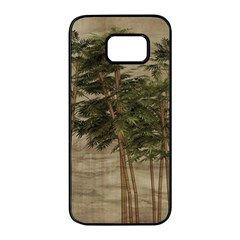 Vintage Bamboo Trees Samsung Galaxy S7 Edge Black Seamless Case by snowwhitegirl