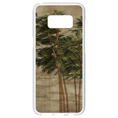 Vintage Bamboo Trees Samsung Galaxy S8 White Seamless Case