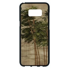 Vintage Bamboo Trees Samsung Galaxy S8 Plus Black Seamless Case by snowwhitegirl