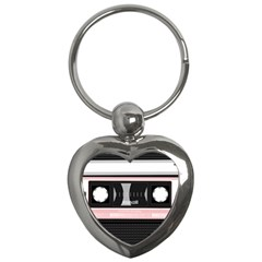 Pink Compact Cassette Key Chains (heart)