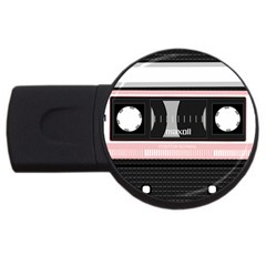 Pink Compact Cassette Usb Flash Drive Round (2 Gb)