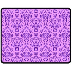 Victorian Violet Double Sided Fleece Blanket (medium)  by snowwhitegirl
