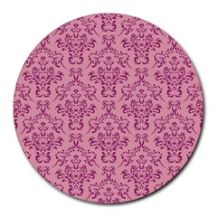 Victorian Pink Ornamental Round Mousepads by snowwhitegirl