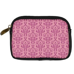 Victorian Pink Ornamental Digital Camera Leather Case by snowwhitegirl