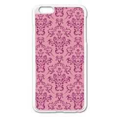 Victorian Pink Ornamental Apple Iphone 6 Plus/6s Plus Enamel White Case by snowwhitegirl