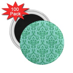Victorian Teal Ornamental 2 25  Magnets (100 Pack)  by snowwhitegirl