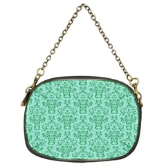 Victorian Teal Ornamental Chain Purse (two Sides) by snowwhitegirl