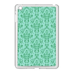 Victorian Teal Ornamental Apple Ipad Mini Case (white) by snowwhitegirl