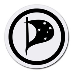 Logo Of Pirate Party Australia Round Mousepads by abbeyz71