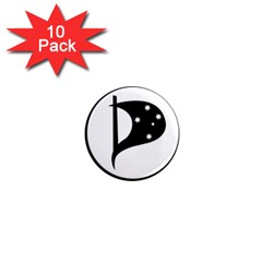 Logo Of Pirate Party Australia 1  Mini Magnet (10 Pack)  by abbeyz71