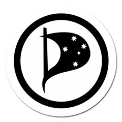 Logo Of Pirate Party Australia Magnet 5  (round) by abbeyz71
