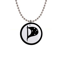 Logo Of Pirate Party Australia Button Necklaces by abbeyz71