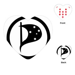 Logo Of Pirate Party Australia Playing Cards (heart) by abbeyz71