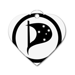 Logo Of Pirate Party Australia Dog Tag Heart (one Side) by abbeyz71