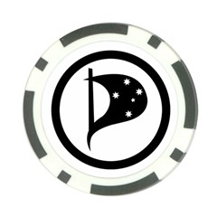 Logo Of Pirate Party Australia Poker Chip Card Guard (10 Pack) by abbeyz71