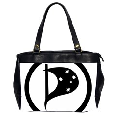 Logo Of Pirate Party Australia Oversize Office Handbag (2 Sides) by abbeyz71