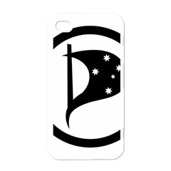 Logo Of Pirate Party Australia Apple Iphone 4 Case (white) by abbeyz71