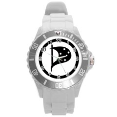 Logo Of Pirate Party Australia Round Plastic Sport Watch (l) by abbeyz71