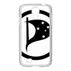 Logo Of Pirate Party Australia Samsung Galaxy S4 I9500/ I9505 Case (white) by abbeyz71