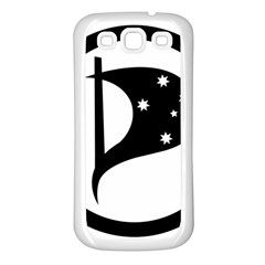 Logo Of Pirate Party Australia Samsung Galaxy S3 Back Case (white) by abbeyz71