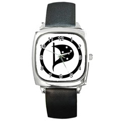 Logo Of Pirate Party Australia Square Metal Watch by abbeyz71