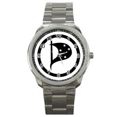 Logo Of Pirate Party Australia Sport Metal Watch by abbeyz71
