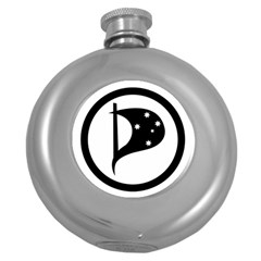 Logo Of Pirate Party Australia Round Hip Flask (5 Oz) by abbeyz71