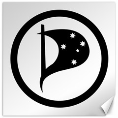 Logo Of Pirate Party Australia Canvas 12  X 12  by abbeyz71