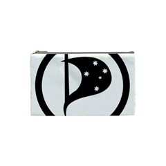 Logo Of Pirate Party Australia Cosmetic Bag (small) by abbeyz71