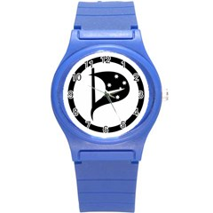 Logo Of Pirate Party Australia Round Plastic Sport Watch (s) by abbeyz71