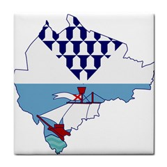 Flag Map Of Belfast Tile Coasters by abbeyz71