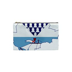 Flag Map Of Belfast Cosmetic Bag (small) by abbeyz71