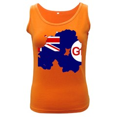 Flag Map Of Government Ensign Of Northern Ireland, 1929 1973 Women s Dark Tank Top