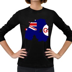 Flag Map Of Government Ensign Of Northern Ireland, 1929 1973 Women s Long Sleeve Dark T Shirt