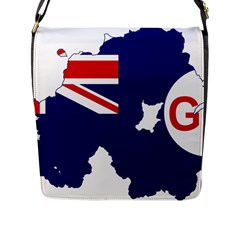 Flag Map Of Government Ensign Of Northern Ireland, 1929 1973 Flap Closure Messenger Bag (l)