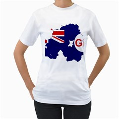 Flag Map Of Government Ensign Of Northern Ireland, 1929 1973 Women s T Shirt (white)