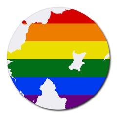 Lgbt Flag Map Of Northern Ireland Round Mousepads