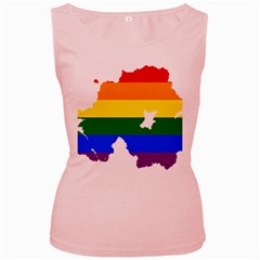 Lgbt Flag Map Of Northern Ireland Women s Pink Tank Top
