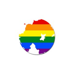 Lgbt Flag Map Of Northern Ireland Golf Ball Marker (10 Pack) by abbeyz71