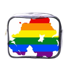 Lgbt Flag Map Of Northern Ireland Mini Toiletries Bag (one Side)