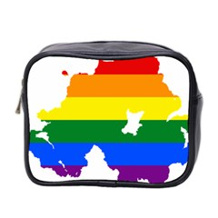 Lgbt Flag Map Of Northern Ireland Mini Toiletries Bag (two Sides)