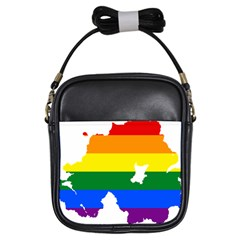 Lgbt Flag Map Of Northern Ireland Girls Sling Bag