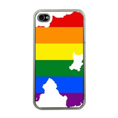 Lgbt Flag Map Of Northern Ireland Apple Iphone 4 Case (clear)