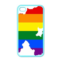 Lgbt Flag Map Of Northern Ireland Apple Iphone 4 Case (color)