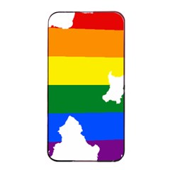 Lgbt Flag Map Of Northern Ireland Apple Iphone 4/4s Seamless Case (black)