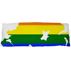 Lgbt Flag Map Of Northern Ireland Body Pillow Case Dakimakura (two Sides)