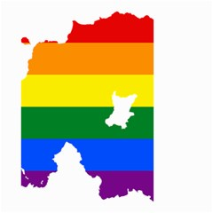 Lgbt Flag Map Of Northern Ireland Small Garden Flag (two Sides)