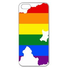 Lgbt Flag Map Of Northern Ireland Apple Seamless Iphone 5 Case (clear)